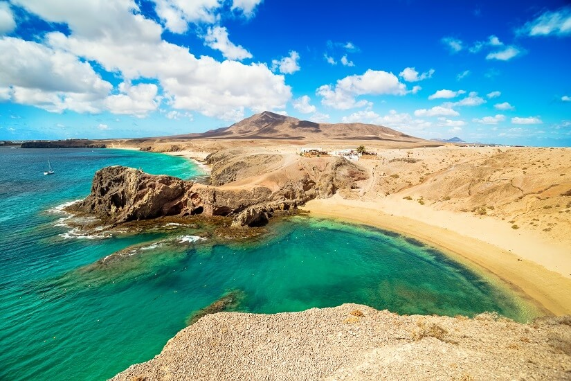 Die Playa de Papagayo im Süden von Lanzarote