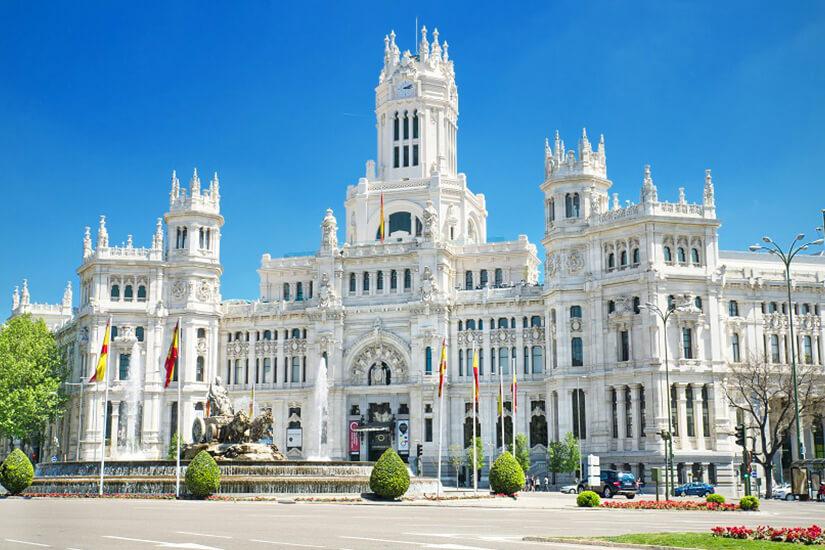 Der Palacio de Cibeles in Madrid