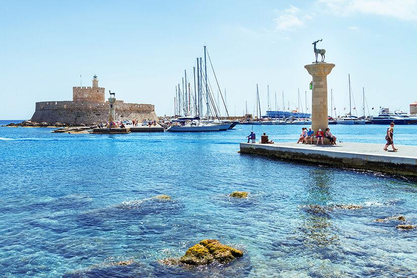 Hafen von Rhodos Stadt