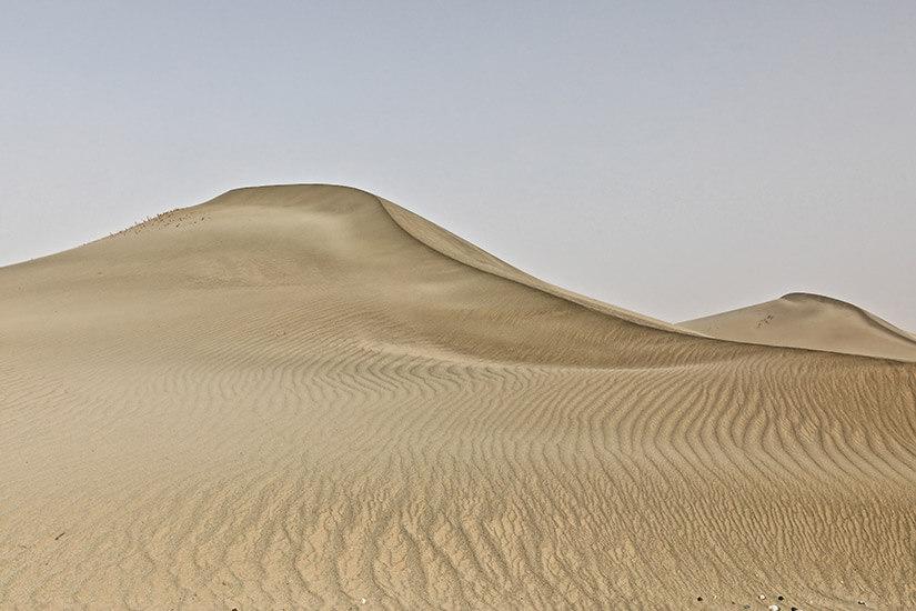 Sanddüne in der Taklamakan-Wüste