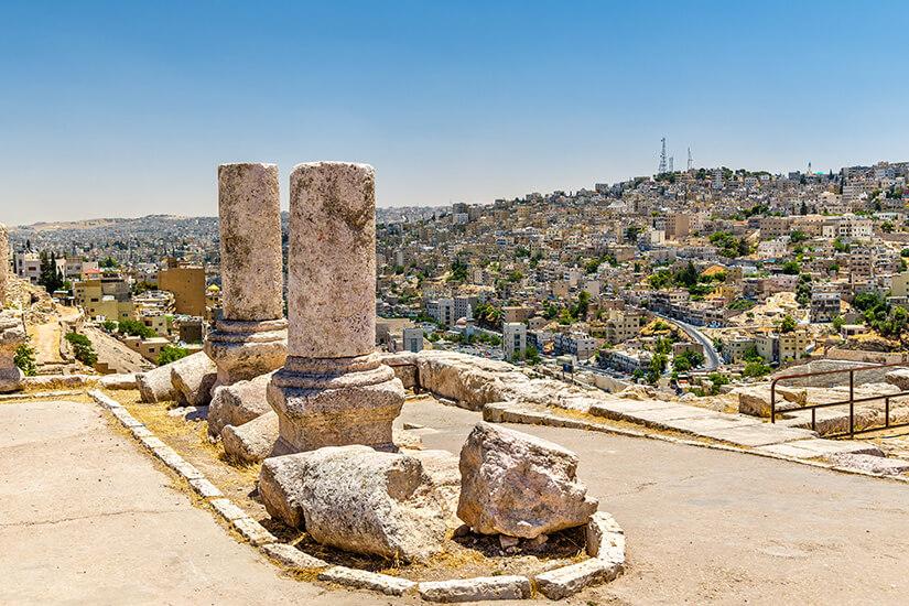 Ruinen der Zitadelle in Amman