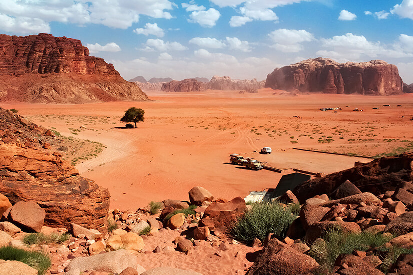 Wadi Rum Wüste in Jordanien