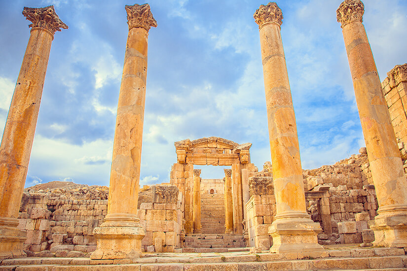 Antike Ruinen in Jerash