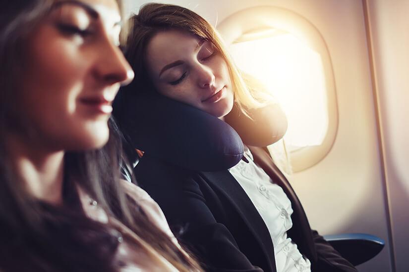 Ruhe finden auf dem Langstreckenflug