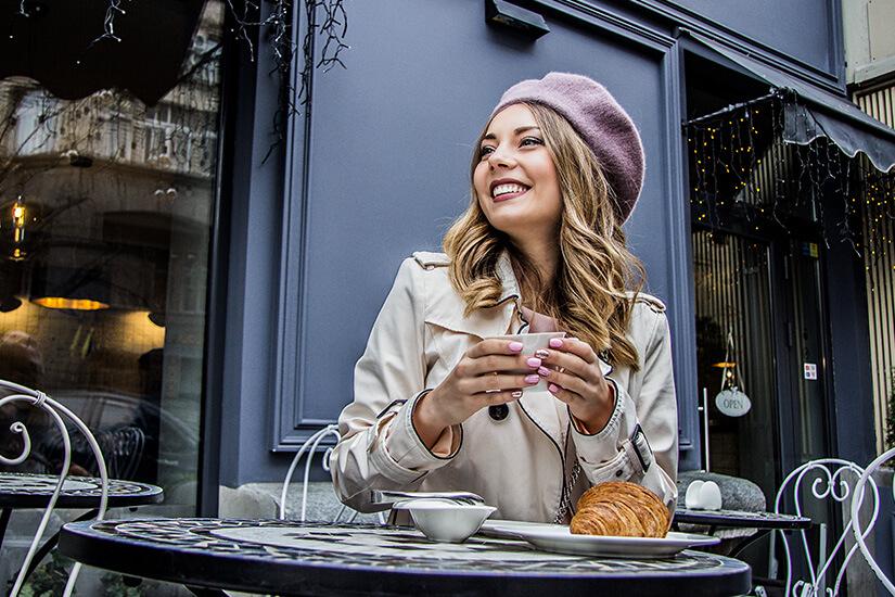 Typisch französisches Café