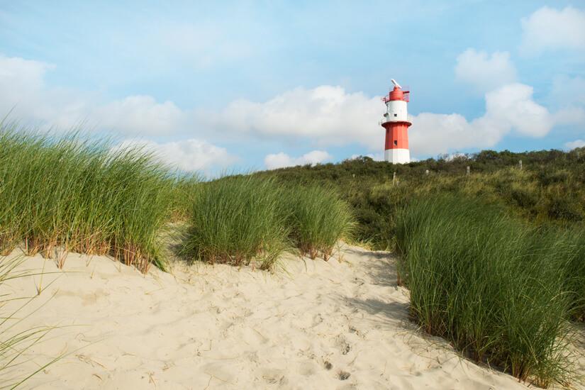 Nordseeinsel Borkum mit Leuchtturm
