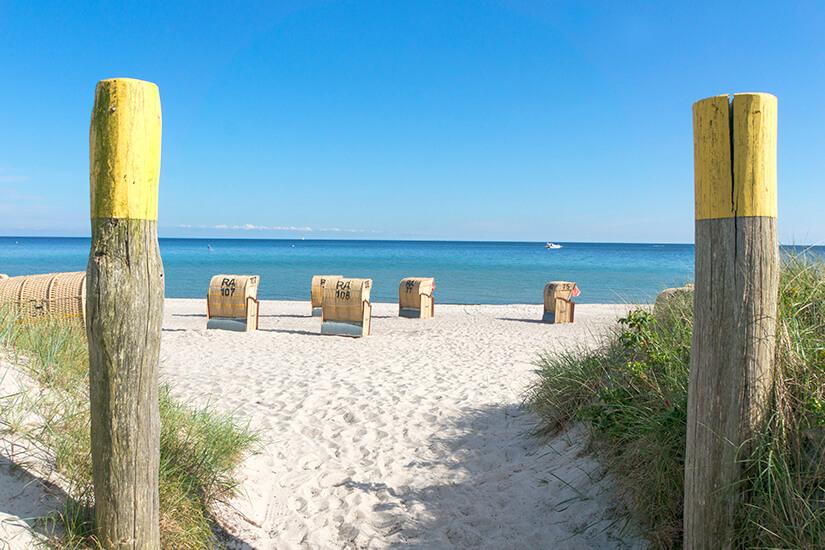 Strand auf der Insel Fehmarn