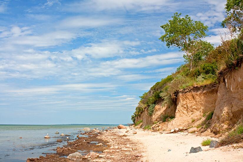 Steilküste an der Insel Poel
