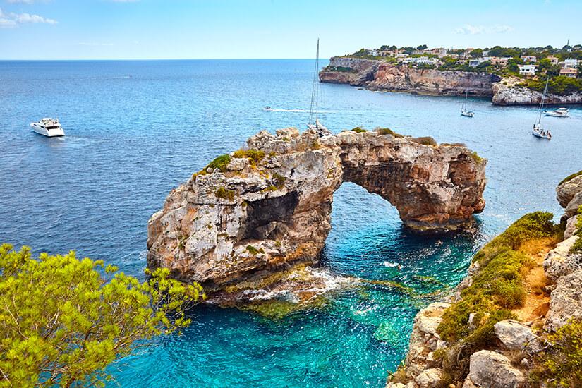 Felsentor Es Pontas auf Mallorca