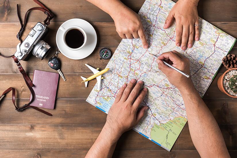 Anreise zum Reiseziel planen