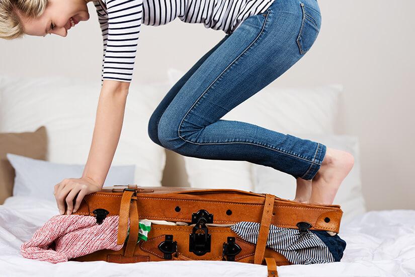 Koffer packen mit Hindernissen