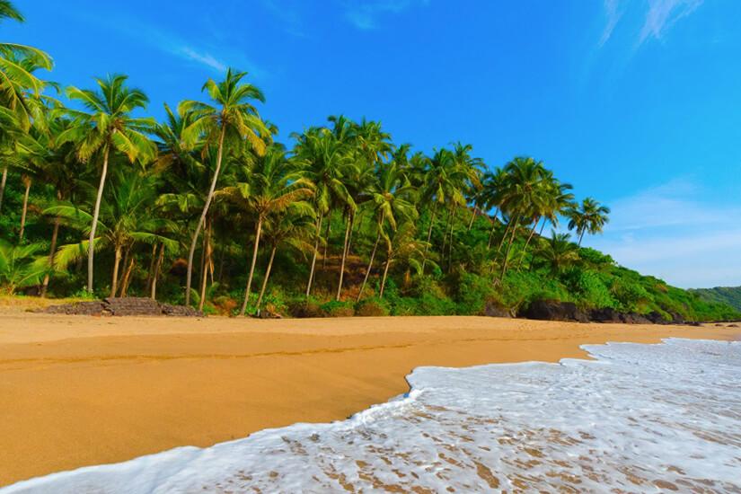 Strand an Goas Küste