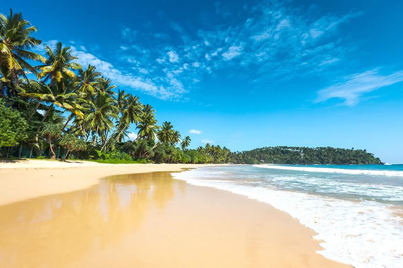 Traumhafter Strand auf Sri Lanka