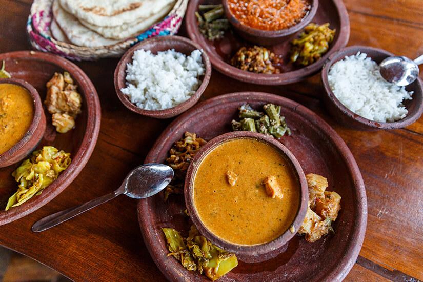 Currys sind die traditionellen Speisen
