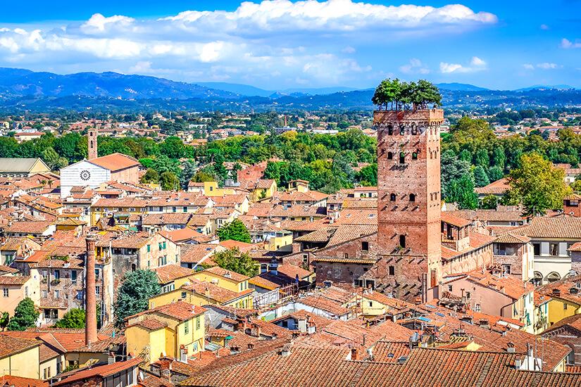 Historische Bauten in Lucca