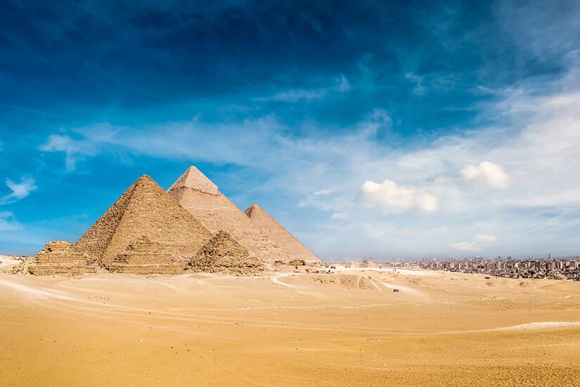 Chephren, Cheops und Mykerinos Pyramide