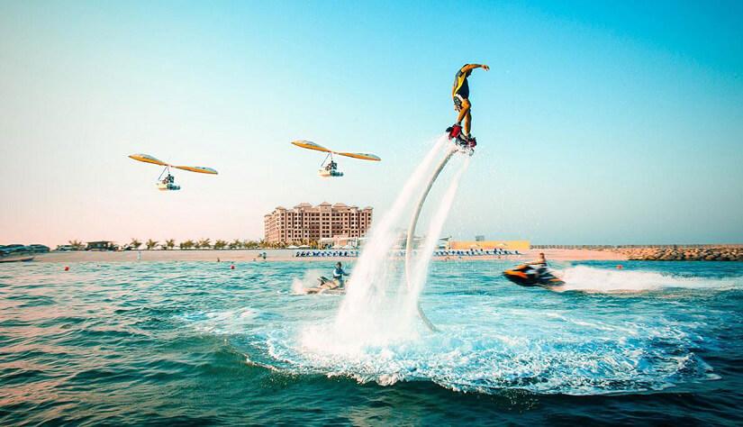 Flyboarding in Ras Al Khaimah