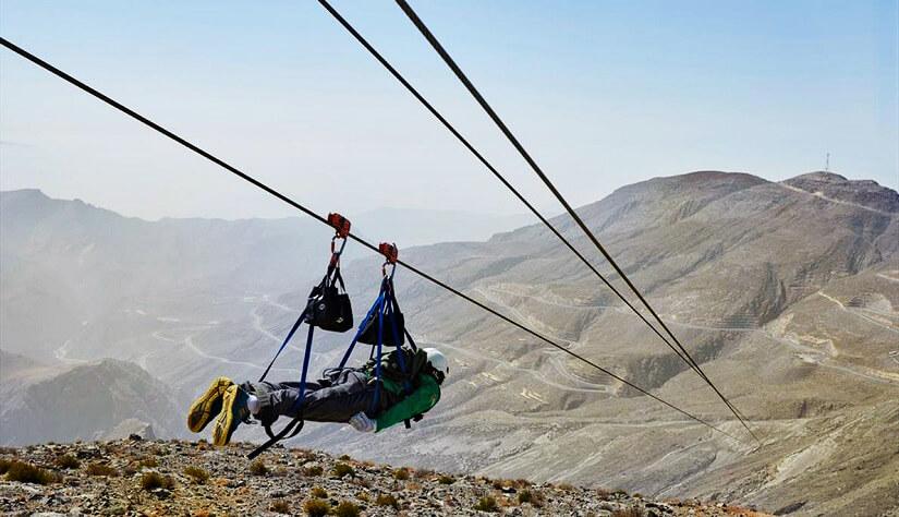 Die längste Seilrutsche der Welt: Jebel Jais Flight