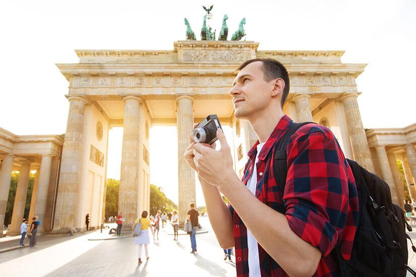 Am Brandenburger Tor in Berlin