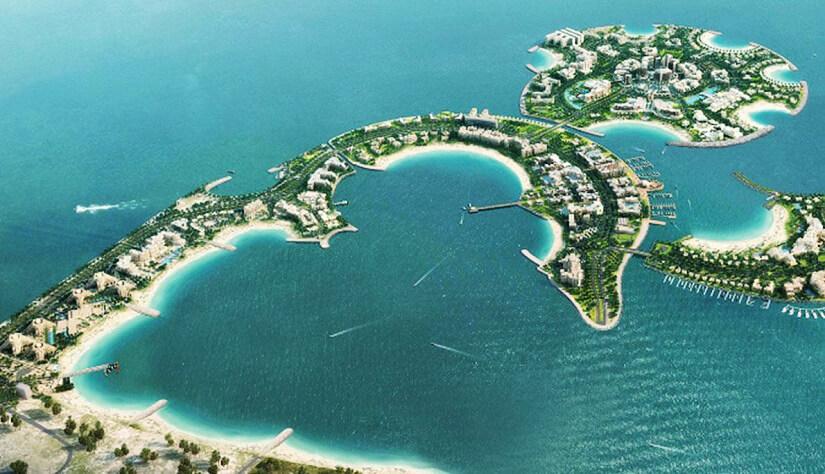 Geplantes Aussehen von Al Marjan Island