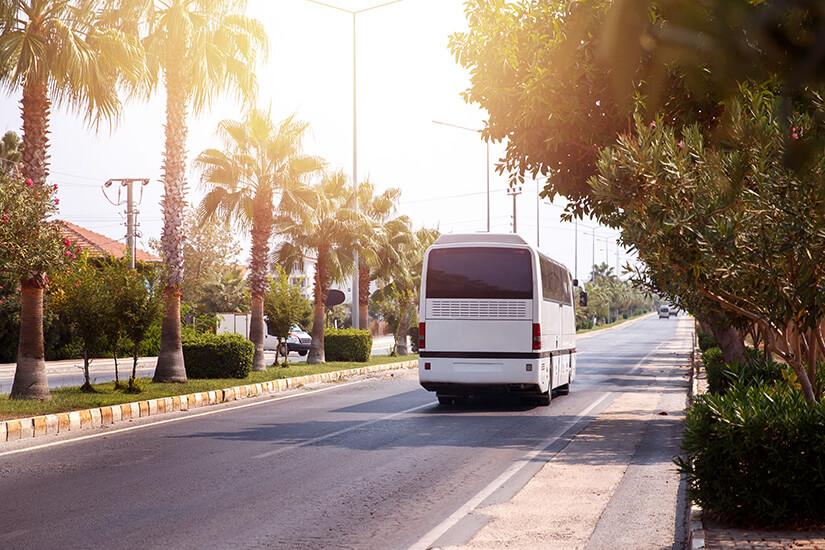 Transfer mit dem Bus