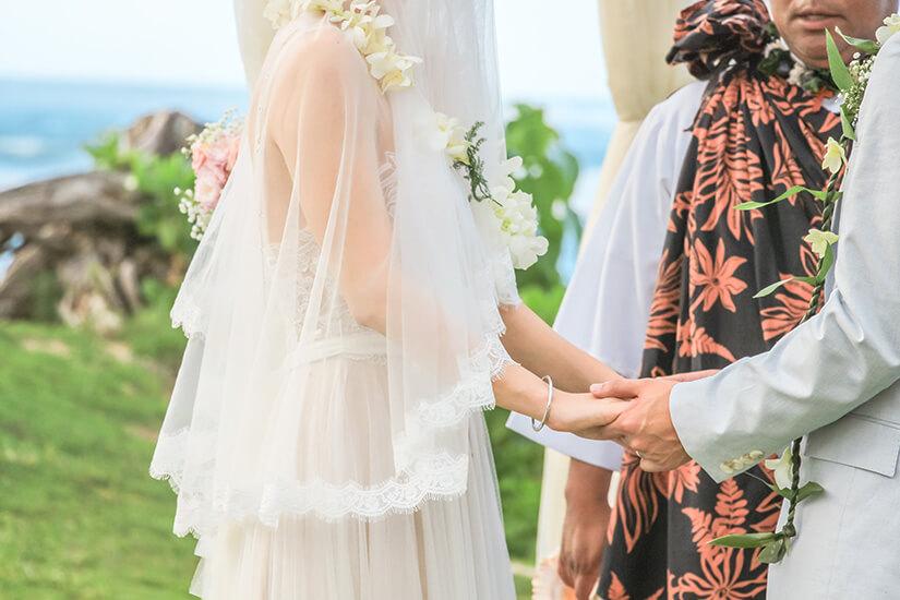 Hawaiianische Hochzeitszeremonie