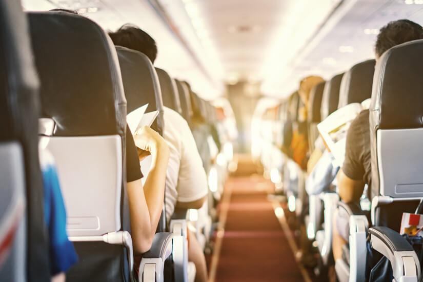 Sitzplätze im Flugzeug reservieren