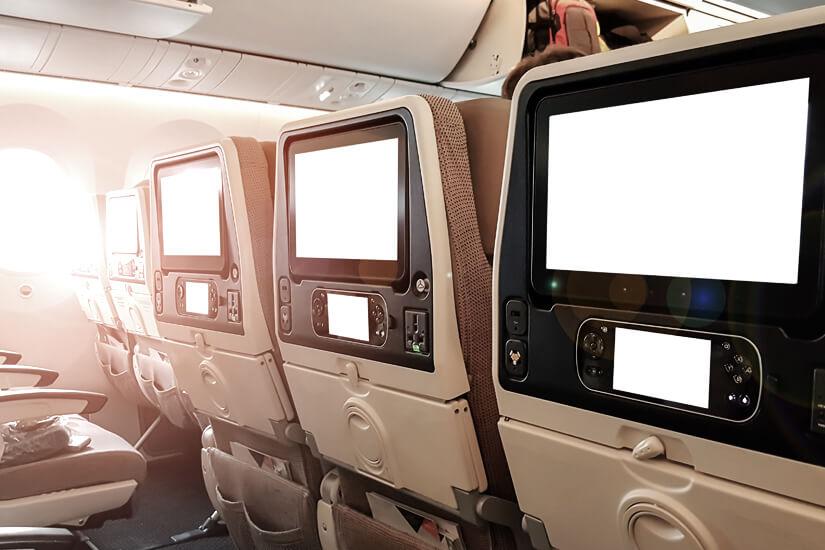 Sitzplatz mit In-flight Entertainment