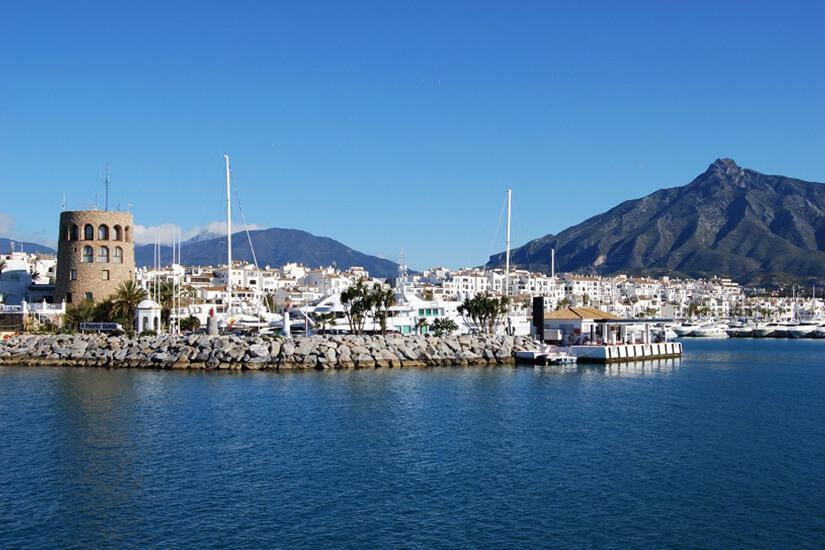 Der Puerto Banus in Marbella
