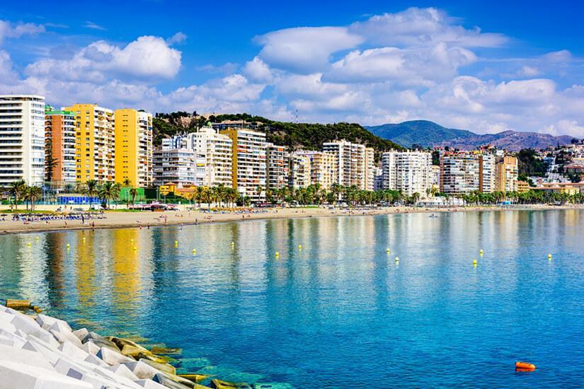 Playa de la Malagueta in Malaga