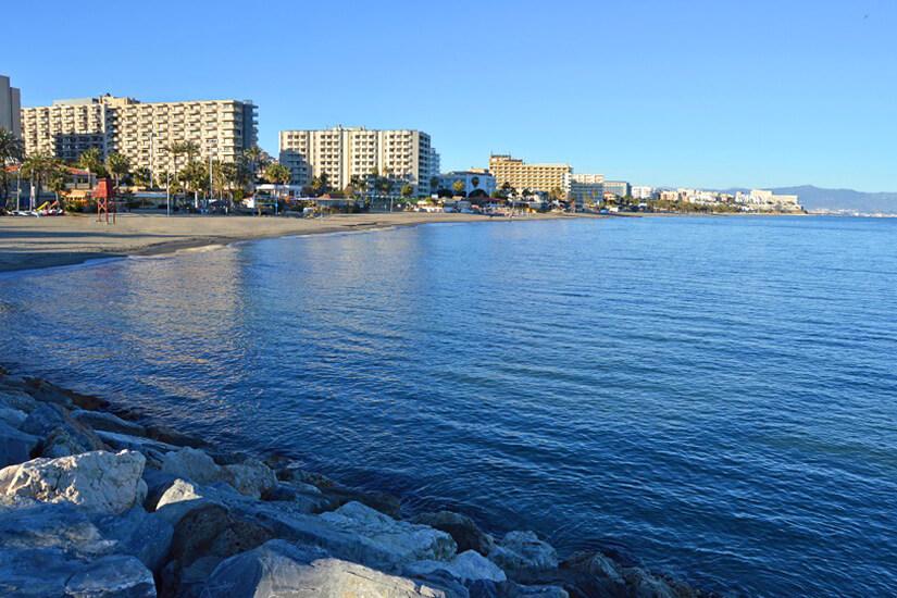 Playa La Carihuela in Torremolinos