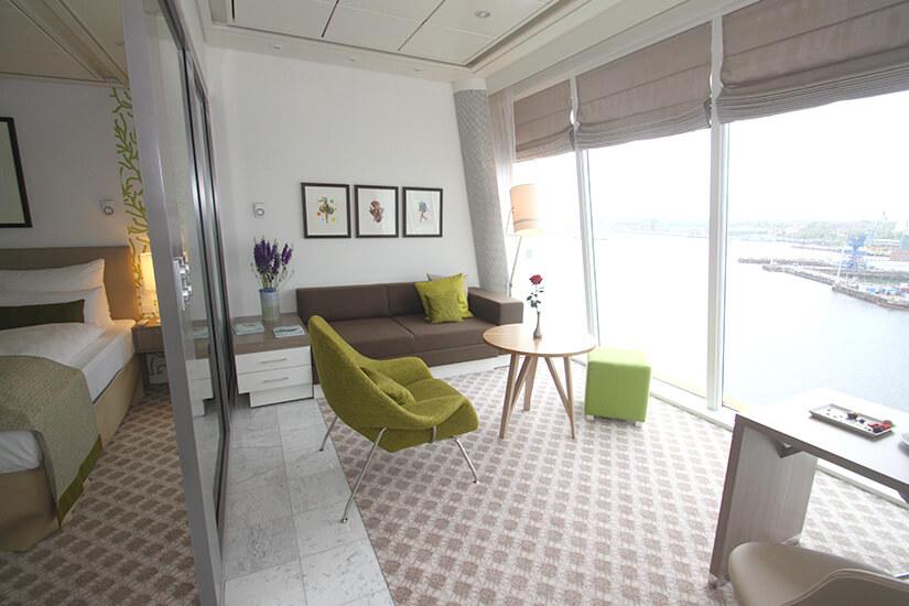 Typische Panorama Suite mit Ausblick