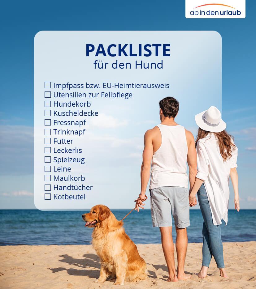Packliste für Urlaub mit Hund