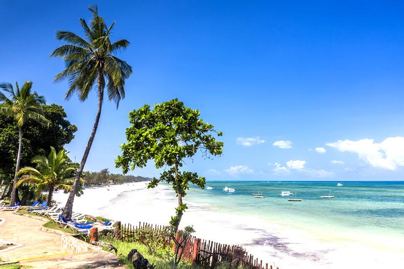 Traumstrand Diani Beach in Kenia