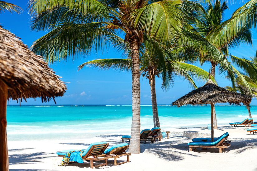Perfekter Strand zum Baden in Kenia