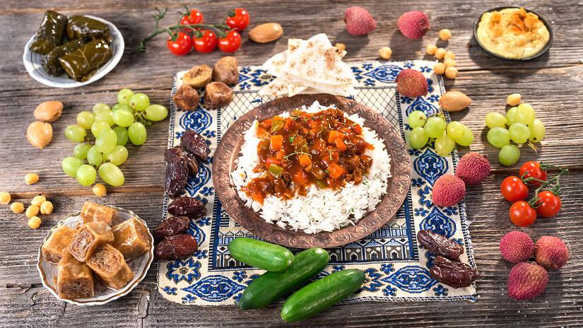 Büffet im Fastenmonat Ramadan