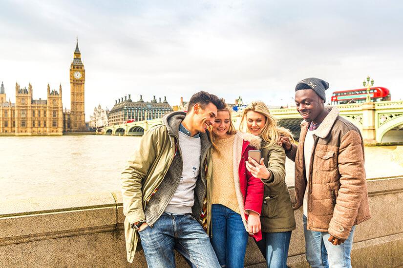 London mit Freunden entdecken