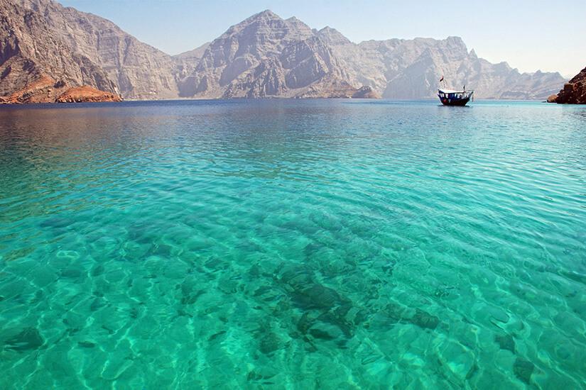 Fjorde im Oman
