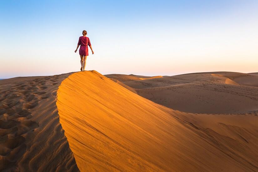 Wüstenspaziergang in Oman