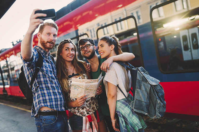Mit der Bahn und Freunden unterwegs