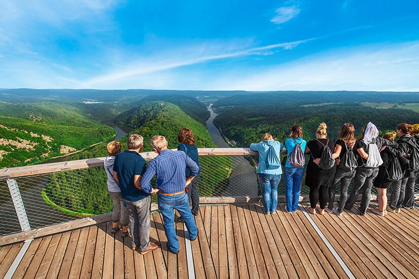 Aussichtspunkt Saarschleife Orscholz Saarland