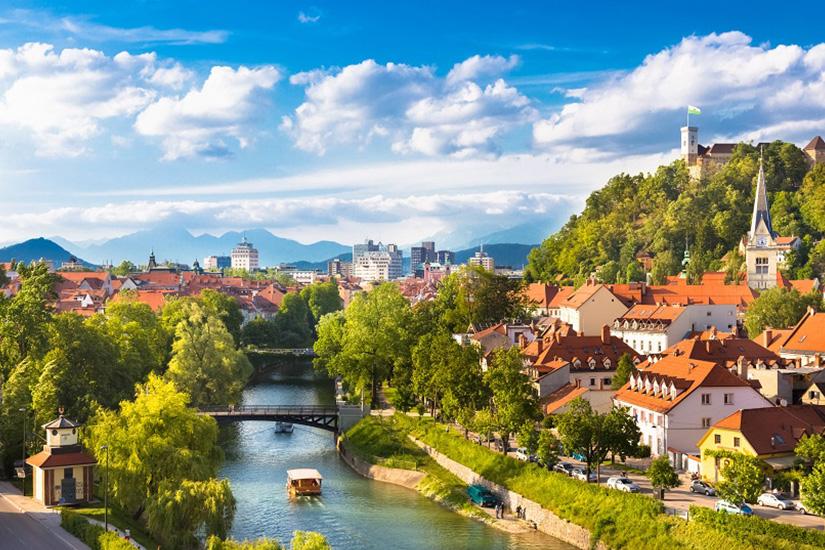 Gehört zur EU: Slowenien mit Ljubljana