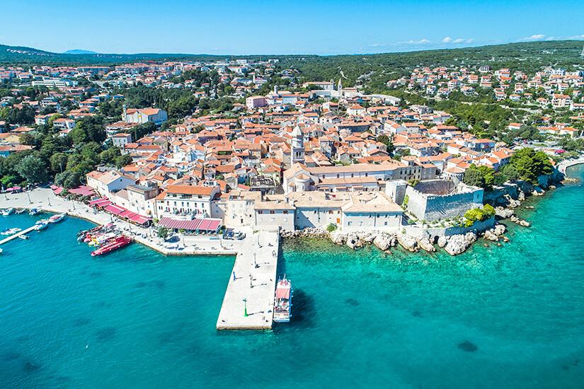 Altstadt von Krk auf der gleichnamigen Insel