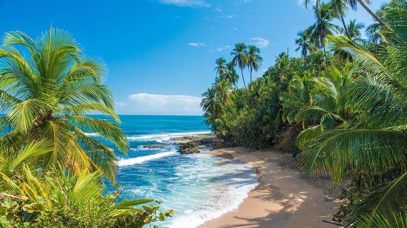 Karibikstrand in Costa Rica