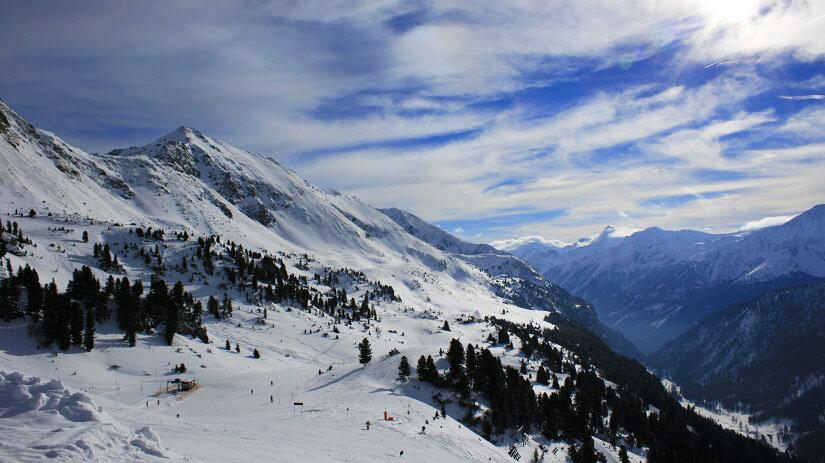 Skigebiet im Salzburger Land