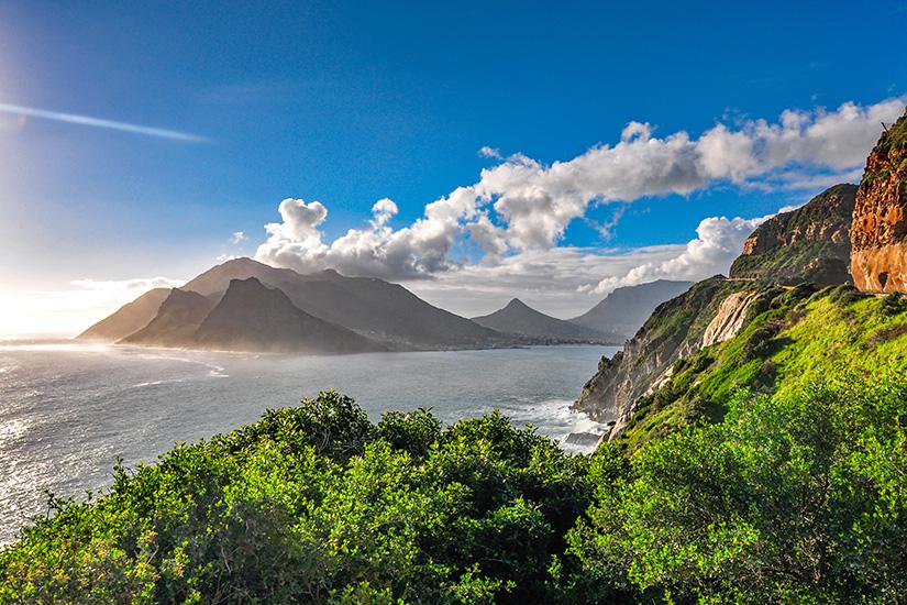 Blick auf die Hout Bay in Südafrika