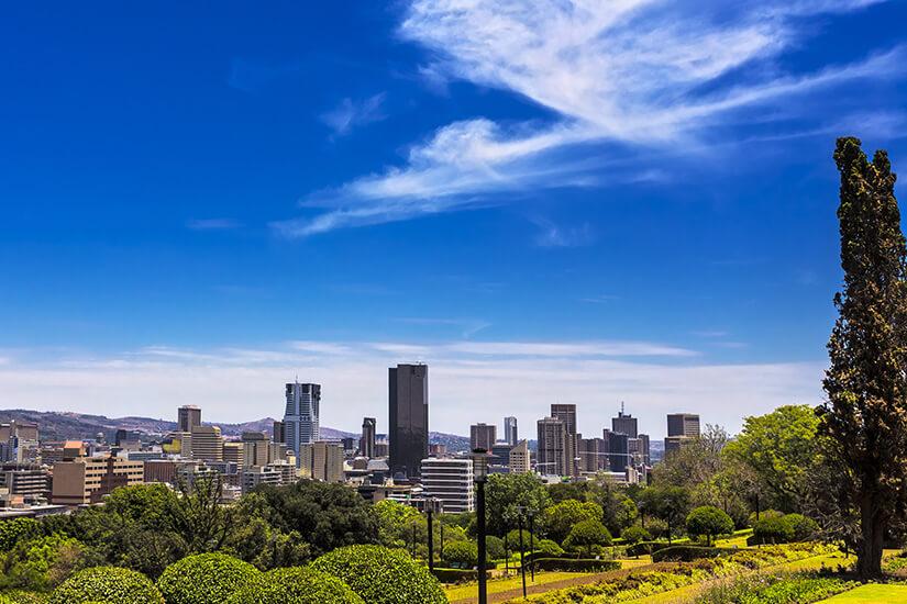 Blick auf die Hauptstadt Pretoria