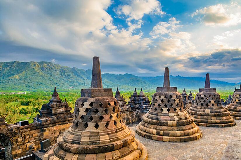 Borobudor Tempel, Indonesien