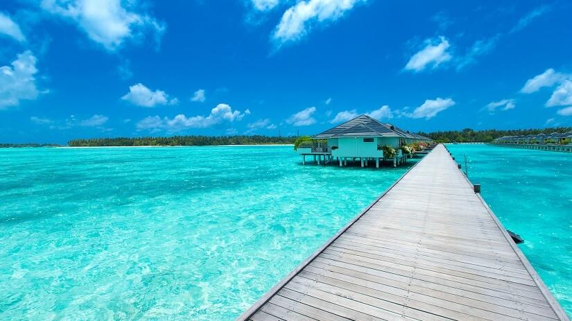 Hütte am Strand auf den Malediven