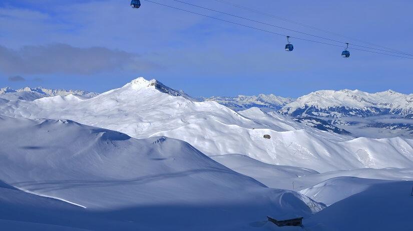 Skigebiet Parsenn in Graubünden